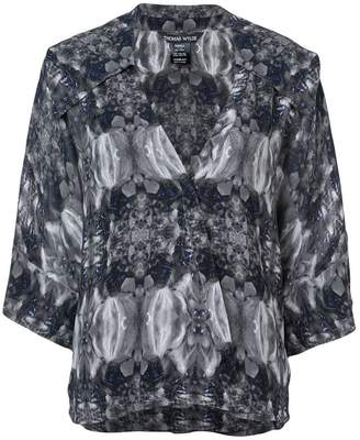 Thomas Wylde printed V-neck blouse