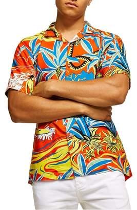 Topman Hawaiian Classic Fit Shirt
