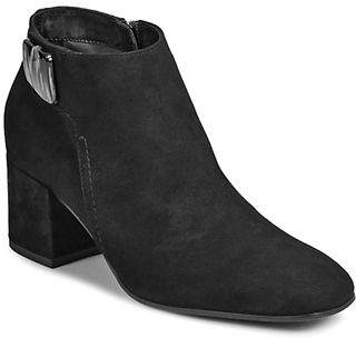 Aquatalia Suede Square Toe Booties