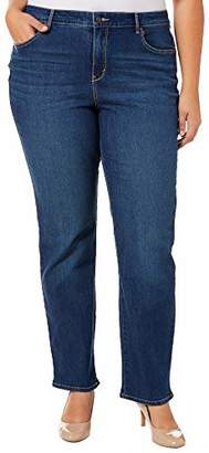 Gloria Vanderbilt Women's Petite Rail Straight Leg Jean