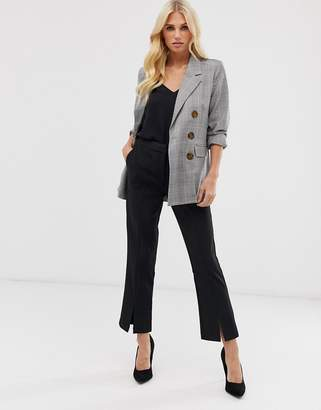 Y.A.S Cropped Trouser With Front Split