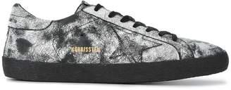 Golden Goose Black Painted Superstar Sneakers