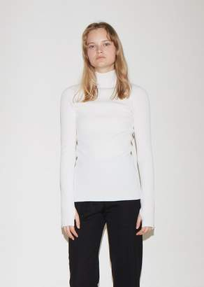 Helmut Lang Long Sleeve Mock Neck Sweater
