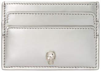 Alexander McQueen Silver Patent Classic Card Holder