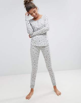 Hunkemoller Rebellious Love Scribble Pajama Set