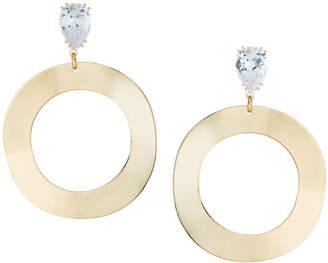 Fragments for Neiman Marcus Crystal & Hoop Drop Earrings