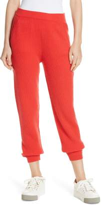 Allude Ribbed Cashmere Joggers