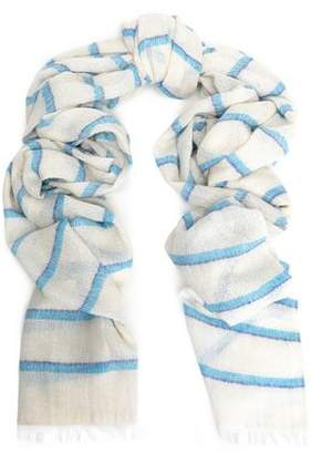Rag & Bone Striped Cotton Silk And Cashmere-Blend Scarf