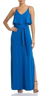 MICHAEL Michael Kors Chain-Strap Ruffled Maxi Dress