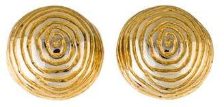 Givenchy Spiral Dome Clip-On Earrings