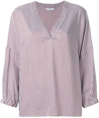 Peserico striped V-neck blouse
