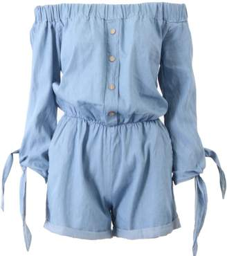 Bardot Momo&Ayat Fashions Ladies Off The Shoulder Denim Playsuit CA size 6-12