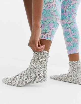 d6c70f97218 Women secret fluffy thermal dot slipper socks in blue