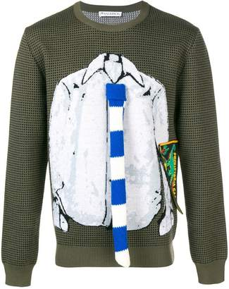 J.W.Anderson trompe l'oeil shirt and tie sweater
