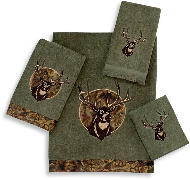 Avanti Camouflage Deer Bath Towel Collection in Peridot