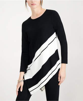 Alfani Asymmetrical Colorblocked Sweater