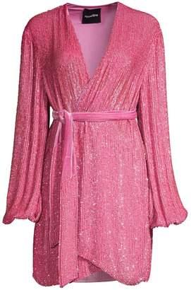 retrofete Gabrielle Sequin Wrap Dress