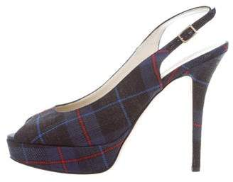 Bettye Muller Plaid Slingback Pumps