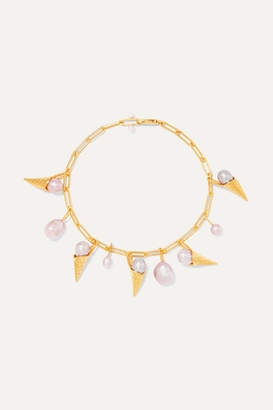 Pernille Lauridsen - Gold-plated Pearl Bracelet