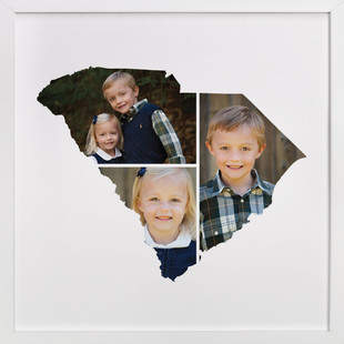 South Carolina Love Location Custom Photo Art Print