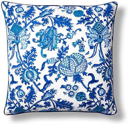 Amanda Cotton Pillow Cover - Blue - Roller Rabbit - 22