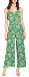 J.o.a. Floral Print Sleeveless Jumpsuit