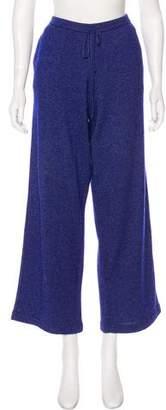 Loro Piana Silk & Cashmere-Blend High-Rise Pants