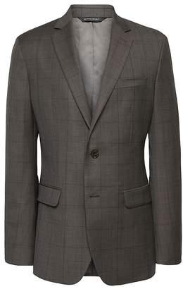 Banana Republic Slim Windowpane Italian Wool Suit Jacket