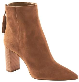 Banana Republic Tassel Zip High-Heel Ankle Boot