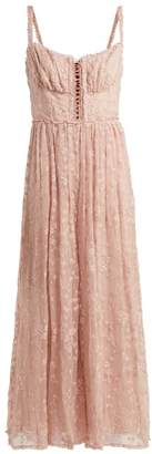 Zimmermann Castile Embroidered Silk Chiffon Jumpsuit - Womens - Light Pink