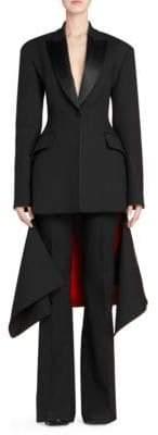 Alexander McQueen Tuxedo Slash-Hem Jacket