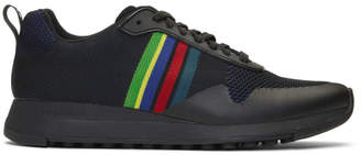Paul Smith Black Sports Stripe Rappid Sneakers