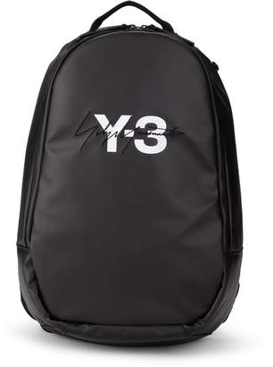 Y-3 Black Wax Canvas Backpack