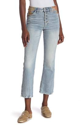 Free People Novelty Straight Jeans