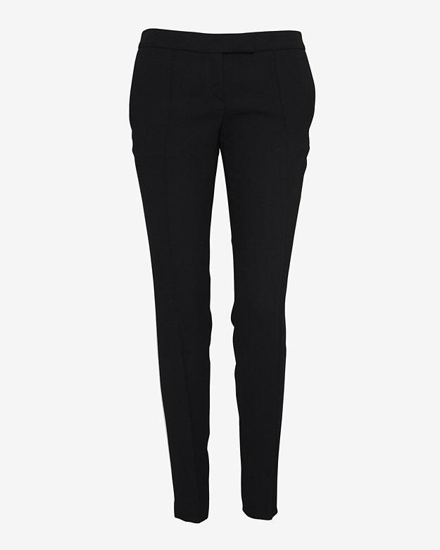 Barbara Bui Contrast Stripe Detail Skinny Trouser: Black/White