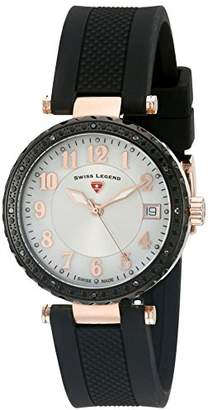 Swiss Legend Women's 16002SM-RG-02-BB Sea Breeze Analog Display Swiss Quartz Black Watch