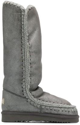 Mou Eskimo metallic knee-high boots