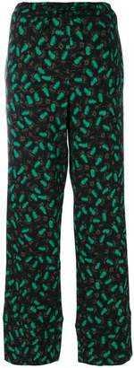 Marni elasticated patterned trousers