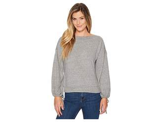 Lanston Drawstring Sleeve Pullover Top Women's Long Sleeve Pullover