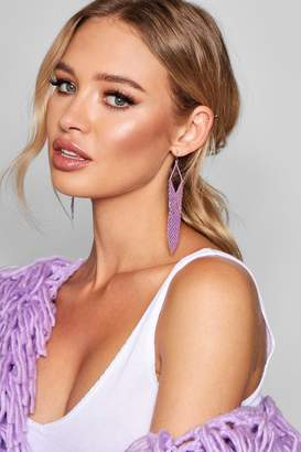 boohoo Chainmail Drop Earrings