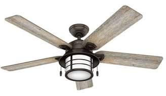 Hunter Fan 54 Key Biscayne Prestige 5 Blade Outdoor Ceiling Fan with Light