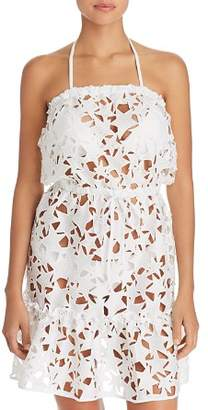 Milly Becca Sheer Cutout Dress Swim Cover-Up