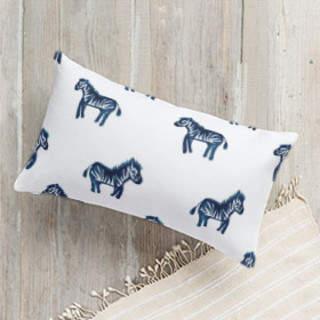 Lil Zebras. Lumbar Pillow