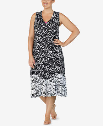 Ellen Tracy Plus Size Printed Nightgown