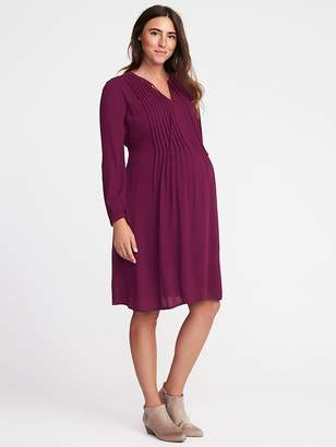Old Navy Maternity Pintuck Swing Dress