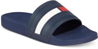 Tommy Hilfiger Men's Elwood Slide Sandals, Only At Macy's $40 thestylecure.com