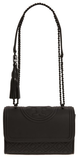 Tory Burch Small Fleming Quilted Shoulder Bag - Black