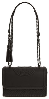 Tory Burch Small Fleming Quilted Shoulder Bag - Black $428 thestylecure.com