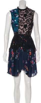 Self-Portrait Nina Lace Knee-Length Dress