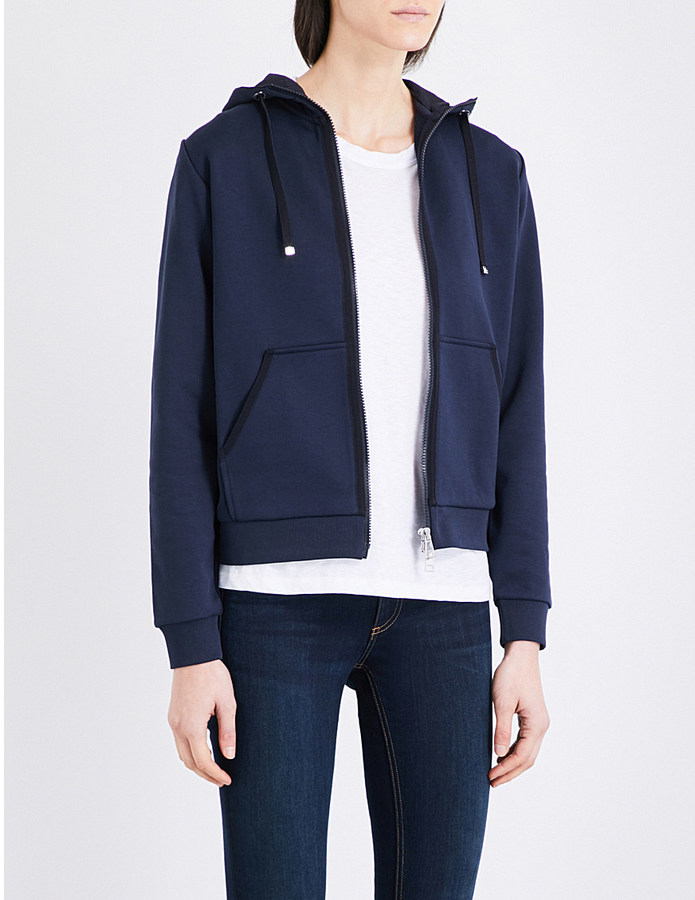 Moncler Moncler Zip-up cotton-jersey hoody